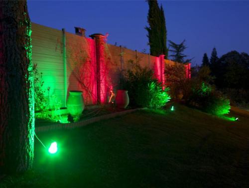 illumination jardin vert rouge Easy Connect